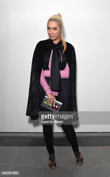 Amber Le Bon attends the British Fashion Council Fashion Film x River Island film screening and cocktail party at The Serpentine Sackler Gallery on...