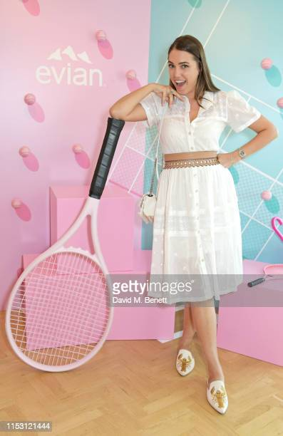 Amber Le Bon attends the evian Live Young suite at The Championships, Wimbledon 2019 on July 1, 2019 in Wimbledon, England.