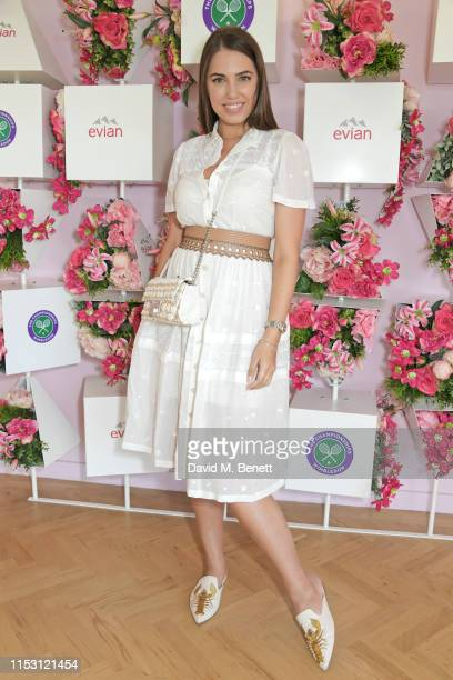 Amber Le Bon attends the evian Live Young suite at The Championships Wimbledon 2019 on July 1 2019 in Wimbledon England