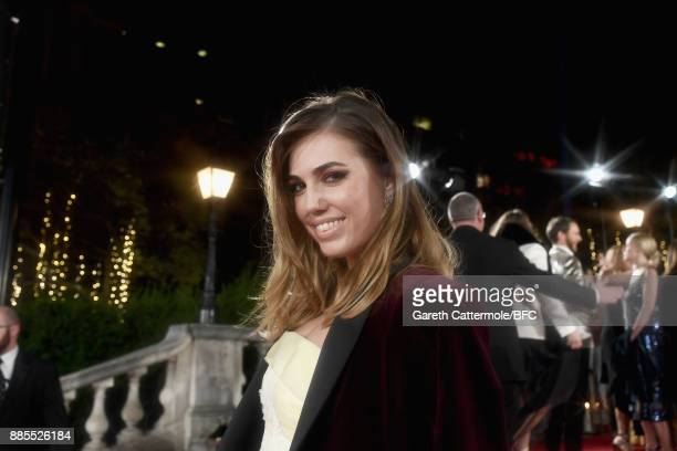 Amber Le Bon attends The Fashion Awards 2017 in partnership with Swarovski at Royal Albert Hall on December 4 2017 in London England