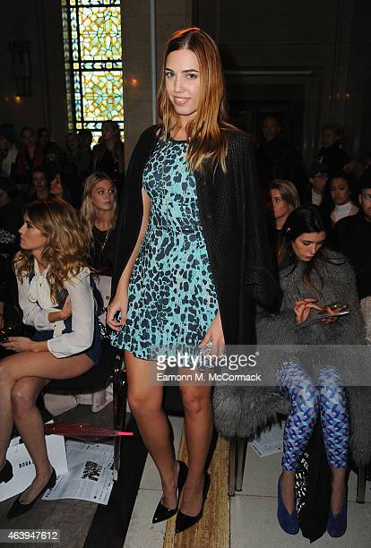 Amber Le Bon attends the Felder Felder show during London Fashion Week Fall/Winter 2015/16 at on February 20 2015 in London England