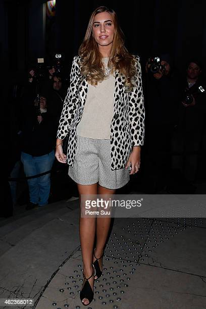 Amber Le Bon attends the Giorgio Armani Prive show as part of Paris fashion week Haute Couture Spring/Summer 2015 on January 27 2015 in Paris France