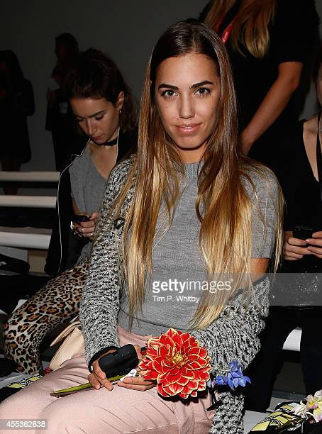 Amber Le Bon attends the Holly Fulton show during London Fashion Week Spring Summer 2015 at Somerset House on September 13 2014 in London England