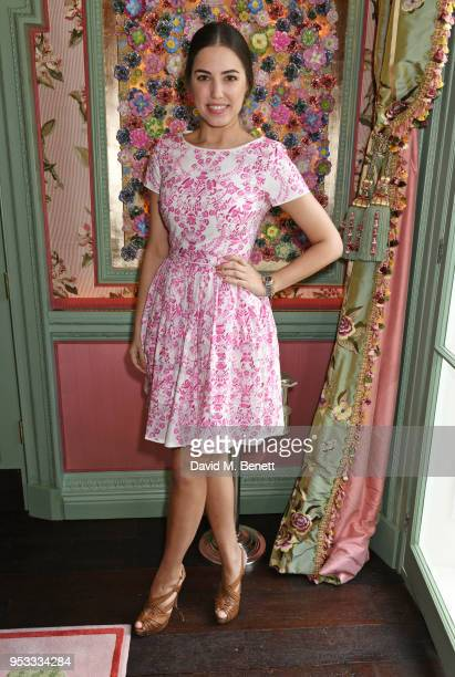 Amber Le Bon attends the launch of BeeBazaarcouk supported by PerrierJouet at Annabel's on May 1 2018 in London England