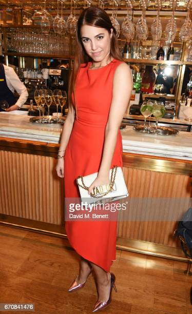 Amber Le Bon attends the launch of the Dior Pump 'N' Volume Mascara with Dior spokesmodel Bella Hadid at Selfridges on April 20 2017 in London England