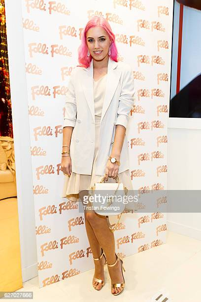 Amber Le Bon attends the launch party of the Folli Follie Regent Street Concept Store on December 1 2016 in London England