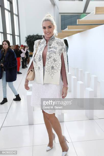 Amber Le Bon attends the London Fashion Week February 2017 collections on February 18, 2017 in London, England.