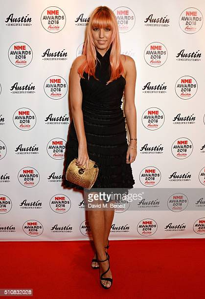 Amber Le Bon attends the NME Awards with Austin Texas at the O2 Academy Brixton on February 17 2016 in London England