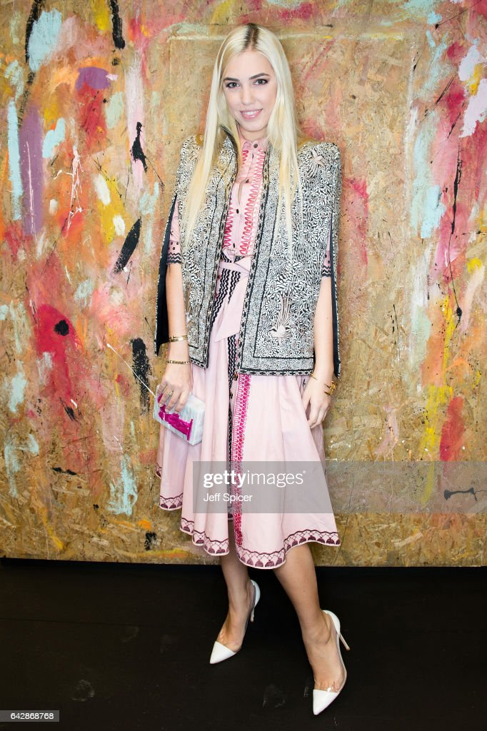 Amber Le Bon attends the Preen by Thornton Bregazzi show during the London Fashion Week February 2017 collections on February 19, 2017 in London, England.