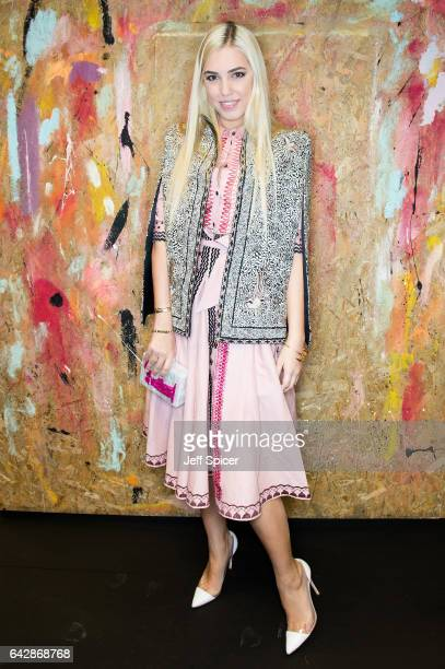 Amber Le Bon attends the Preen by Thornton Bregazzi show during the London Fashion Week February 2017 collections on February 19 2017 in London...