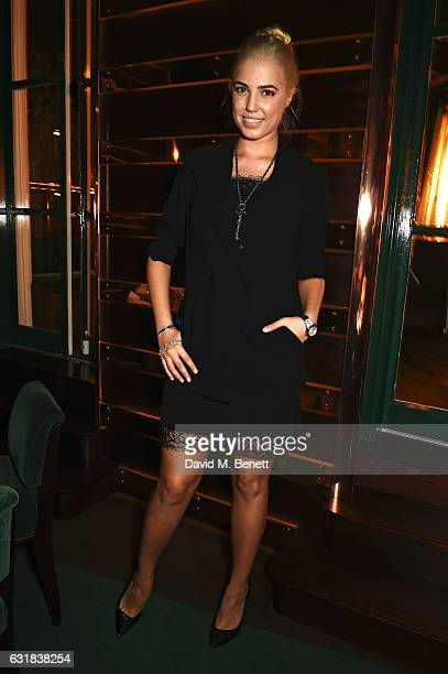 Amber Le Bon attends the Rodial dinner hosted by Poppy Delevingne and Maria Hatzistefanis at Casa Cruz on January 16 2017 in London England