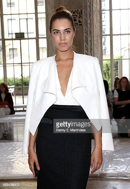 Amber Le Bon attends the Temperley London show during London Fashion Week Spring Summer 2015 at on September 14 2014 in London England