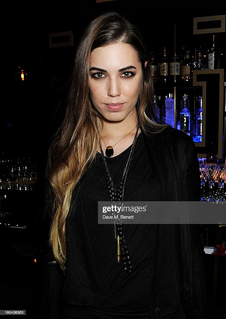 Amber Le Bon attends the ZEO 'Just January' party at Buddha-Bar London on January 31, 2013 in London, England.