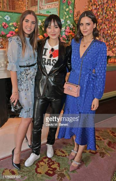 Amber Le Bon Betty Bachz and Lilah Parsons attend the Kurt Geiger and Susie Bubble celebration for the new 'Characterful Style' campaign at Annabel's...