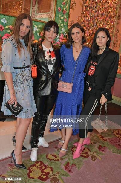 Amber Le Bon Betty Bachz Lilah Parsons and Doina Ciobanu attend the Kurt Geiger and Susie Bubble celebration for the new 'Characterful Style'...