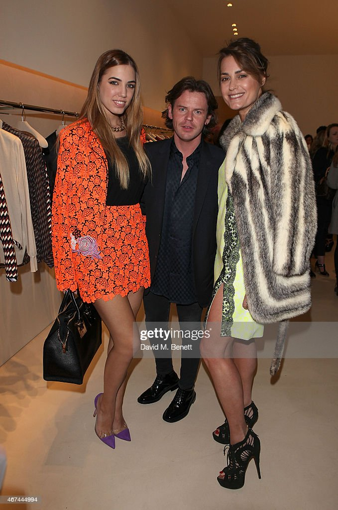 Amber Le Bon, Christopher Kane and Yasmin Le Bon attend the opening of Christopher Kane's London Flagship store on March 24, 2015 in London, England.
