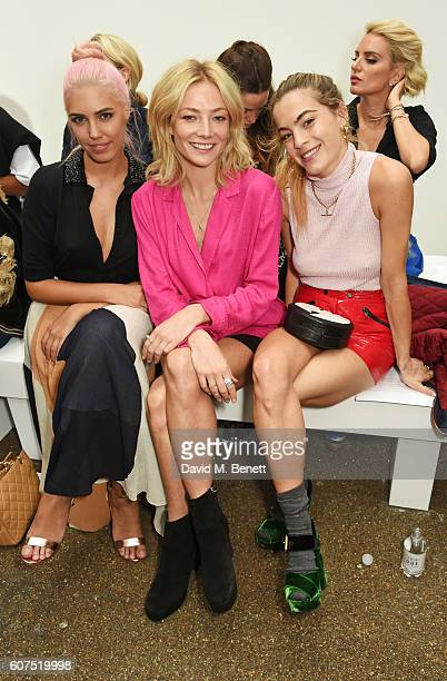 Amber Le Bon Clara Paget and Chelsea Leyland attend the Topshop Unique show during London Fashion Week Spring/Summer Collections 2017 at Old...