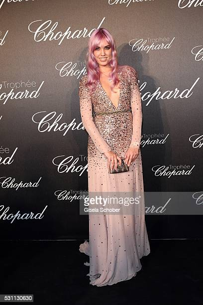 Amber Le Bon daughter of Duran Duran lead singer Simon Le Bon arrives at the Chopard Trophy Ceremony at the annual 69th Cannes Film Festival at Hotel...