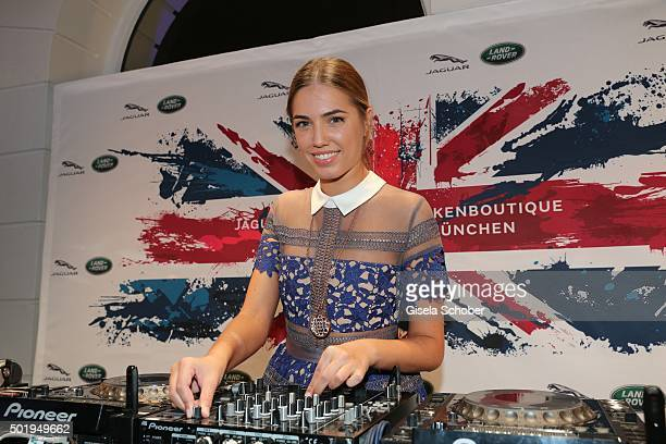 Amber Le Bon daughter of Duran Duran lead singer Simon Le Bon during the opening of the Jaguar Land Rover Boutique on December 18 2015 in Munich...