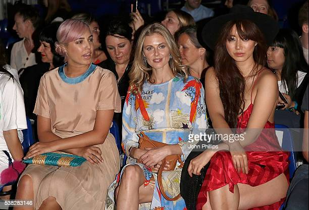 Amber le Bon Donna Air and Betty Bachz attend Graduate Fashion Week 2016 at The Truman Brewery on June 5 2016 in London England