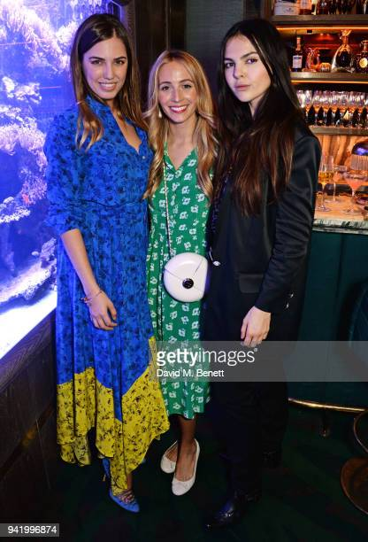 Amber Le Bon, Harley Viera-Newton and Doina Ciobanu attend an exclusive dinner hosted by Harley Viera-Newton to celebrate her SS18 collaboration with...