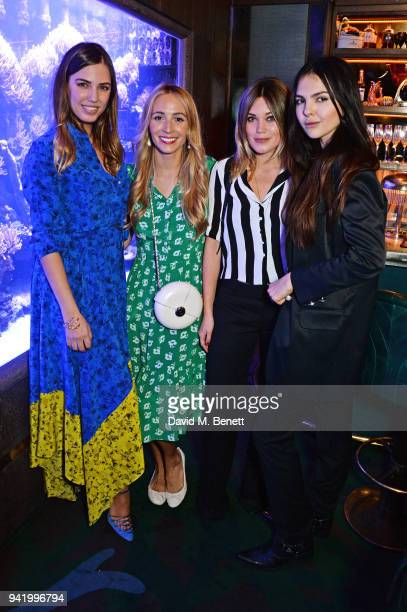 Amber Le Bon, Harley Viera-Newton, Kara Rose Marshall and Doina Ciobanu attend an exclusive dinner hosted by Harley Viera-Newton to celebrate her...