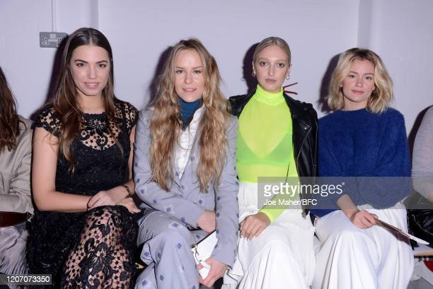 Amber le Bon Hum Fleming Georgia Hirst and guest attend The Mark Fast show during London Fashion Week February 2020 on February 18 2020 in London...