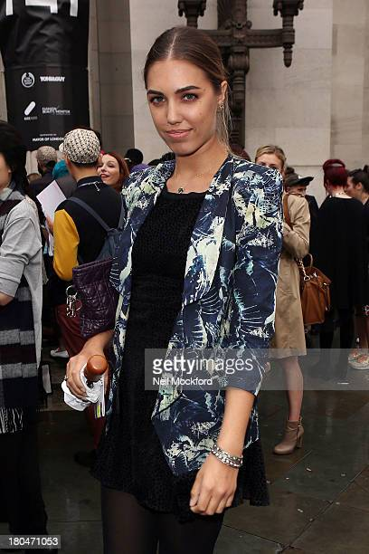 Amber Le Bon is sighted at the Freemason's Hall on September 13 2013 in London England