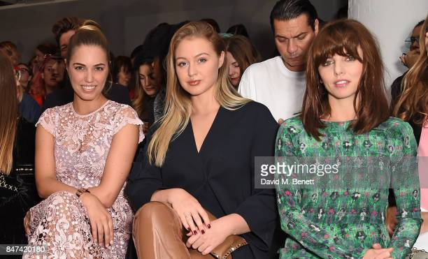 Amber Le Bon Iskra Lawrence and Ophelia Lovibond attend the Bora Aksu show during London Fashion Week September 2017 at BFC Show Space on September...