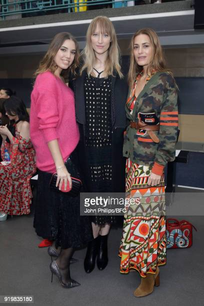 Amber Le Bon Jade Parfitt and Yasmin Le Bon attend the Temperley London show during London Fashion Week February 2018 at on February 18 2018 in...