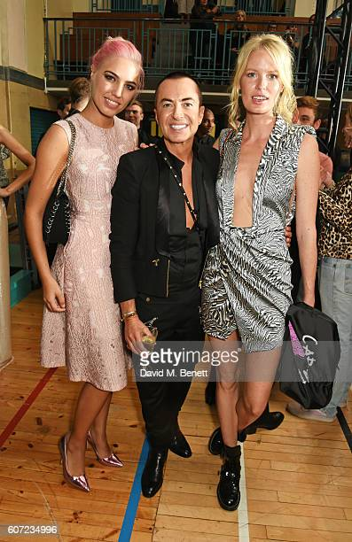 Amber Le Bon Julien Macdonald and Caroline Winberg attend the Julien Macdonald runway show during London Fashion Week Spring/Summer collections 2017...