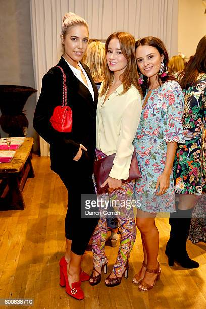 Amber Le Bon Kelly Eastwood and Venetia Falconer attend the book launch of Matthew Williamson Fashion Print Colouring by Laurence King Publishing at...