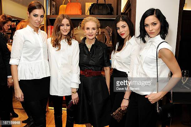 Amber Le Bon Olivia Palermo Carolina Herrera Julia Restoin Roitfeld and Leigh Lezark attend the launch of CH Carolina Herrera's White Shirt...