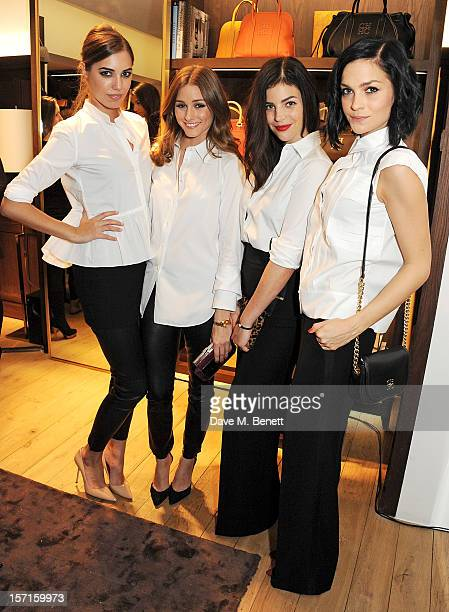 Amber Le Bon Olivia Palermo Julia Restoin Roitfeld and Leigh Lezark attend the launch of CH Carolina Herrera's White Shirt Collection at their new...
