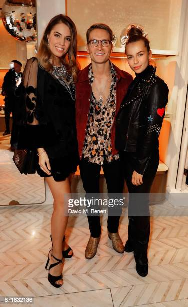 Amber Le Bon Ollie Proudlock and Emma Louise Connolly attend the Jimmy Choo x Annabel's party on November 8 2017 in London England