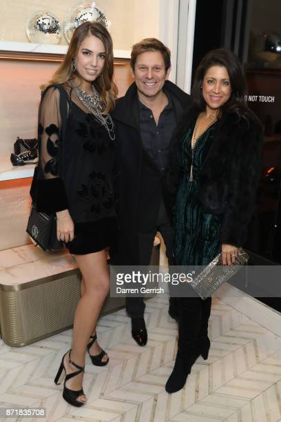 Amber Le Bon Roger Taylor and Gisella Bernales attend Jimmy Choo X Annabel's party hosted by Pierre Denis CEO and Derek Blasberg at 27 New Bond...
