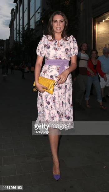 Amber Le Bon seen attending Magnum Pleasure Store launch party on July 10 2019 in London England