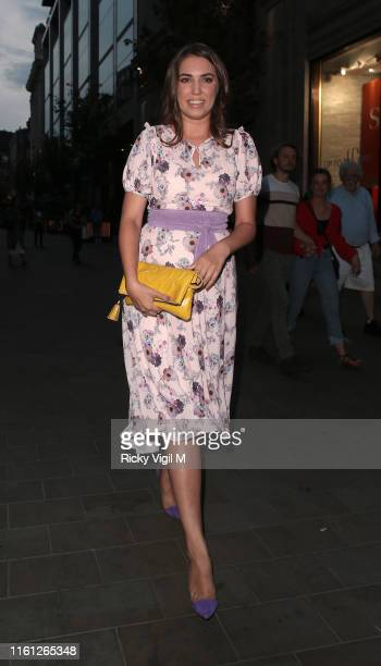 Amber Le Bon seen attending the Magnum Pleasure Store launch party on July 10 2019 in London England