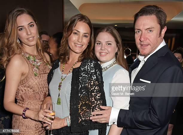 Amber Le Bon Yasmin Le Bon Tallulah Le Bon and Simon Le Bon attend the Red Magazine dinner in honour of Yasmin Le Bon at Bulgari Hotel on June 17...