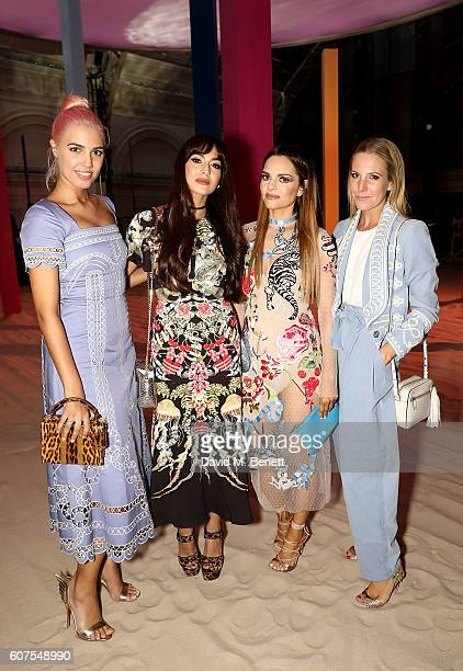 Amber Le Bon Zara Martin Maria Hatzistefanis and Alice Naylor Leyland attend the Temperley London x Vero SS17 Fashion Show at The Lindley Hall on...