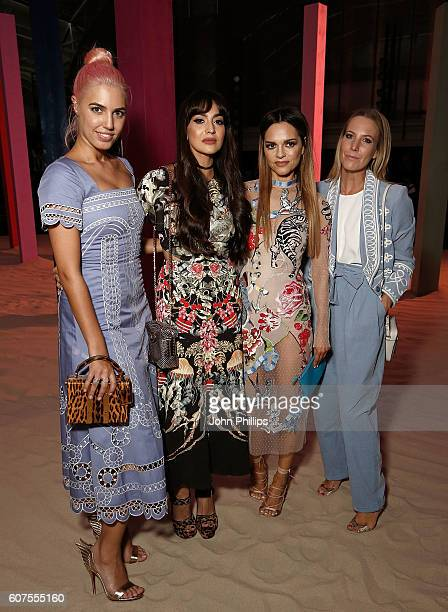 Amber Le Bon Zara Martin Maria Hatzistefanis and Alice Naylor Leyland attends the Temperley show during London Fashion Week Spring/Summer collections...