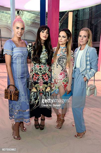 Amber Le Bon Zara Martin Maria Hatzistefanis and Alice NaylorLeyland pose as they attend the Temperley London SS17 show sponsored by Rodial at London...