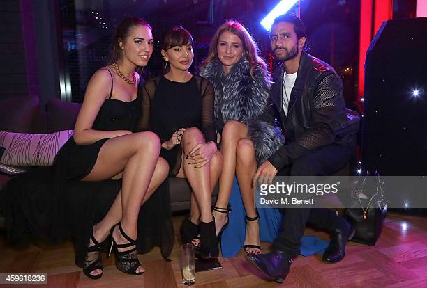 """Amber Le Bon, Zara Martin, Millie Mackintosh and Nik Thakkar attend an exclusive party to celebrate the imminent arrival of """"City Island by..."""