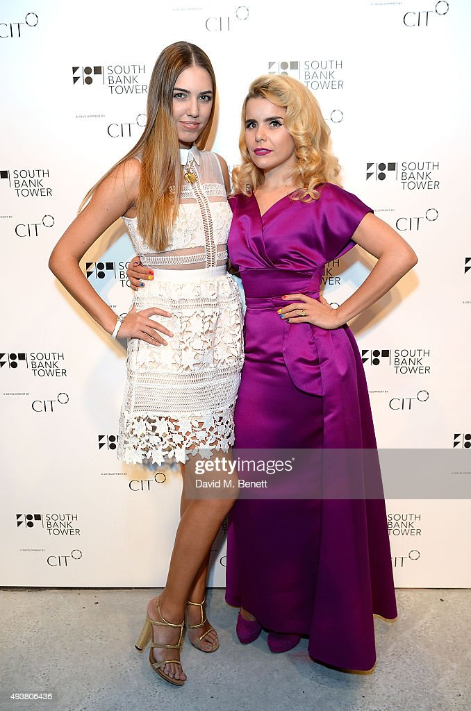Amber LeBon and Paloma Faith attend the opening of new landmark 41-storey development, South Bank Tower, with an exclusive event in the penthouse complete with a private performance by Paloma Faith, at South Bank Tower on October 22, 2015 in London, England.