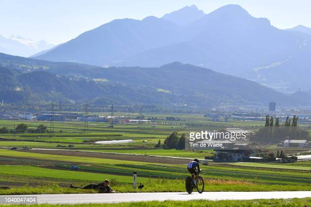 Amber Leone Neben of The United States / Landscape / Mountains / during the Women Elite Individual Time Trial a 278km race from Wattens to Innsbruck...
