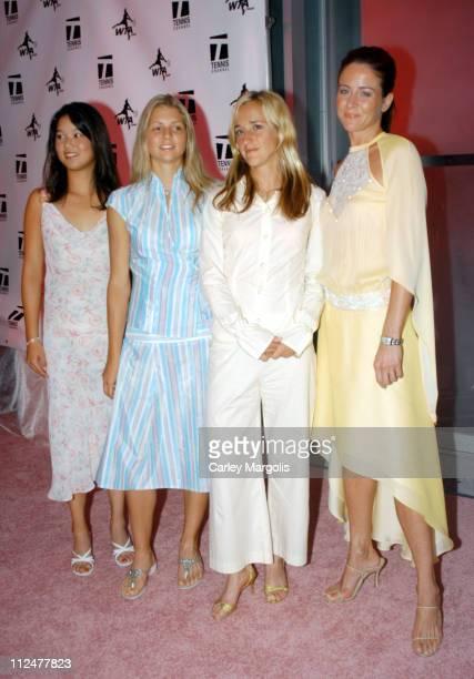 Amber Liu, Maria Kirilenko, Maggie Maleeva and model wearing Capasca, designed by Maggie Maleeva