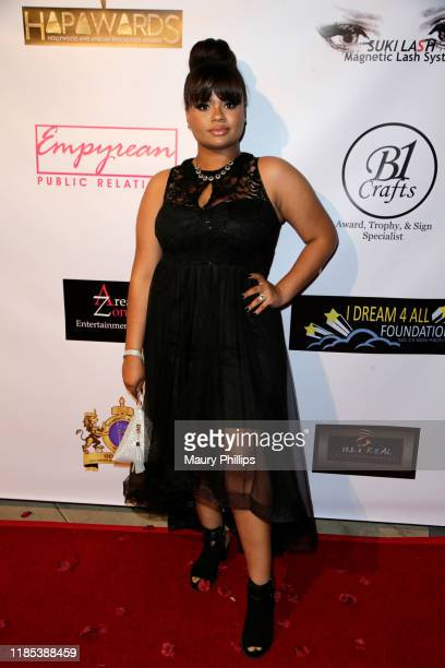 Amber Lourdes arrives at the Hollywood and African Prestigious Awards at Alex Theatre on November 03 2019 in Glendale California