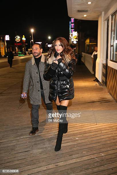Amber Marchese and her husband Joe Marchese attend the Hard Rock Cafe's 20th Anniversary bash on Tuesday, November 15 in Atlantic City, NJ. The event...