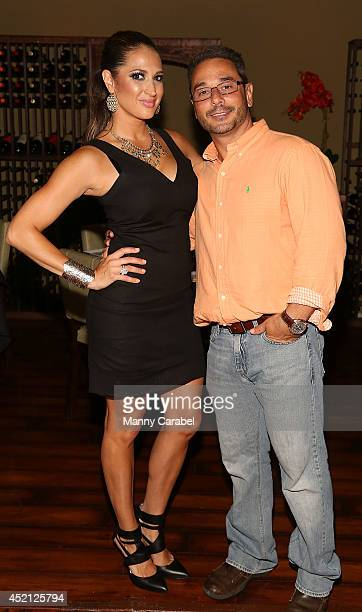 "Amber Marchese and Jim Marchese attend the ""Real Housewives Of New Jersey"" Season Six Premiere Party on July 13, 2014 in Parsippany, New Jersey."