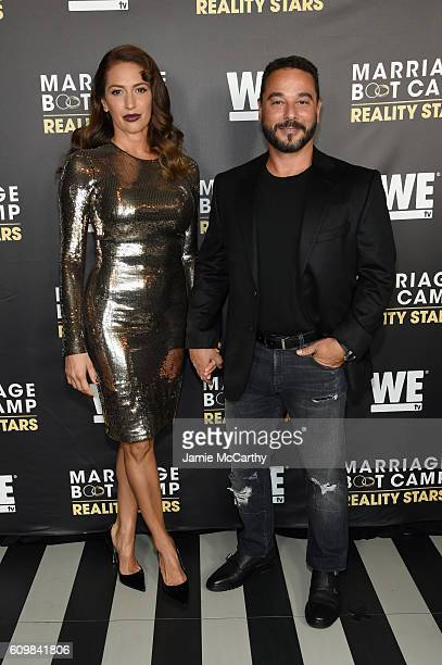 Amber Marchese and Jim Marchese attend The Season 6 Premiere of Marriage Boot Camp Reality Stars at Up & Down on September 22, 2016 in New York City.